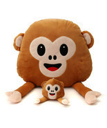 Monkey Emoji  Emoticon Throw Plush Stuffed Toy Doll Decor Gift - £3.30 GBP