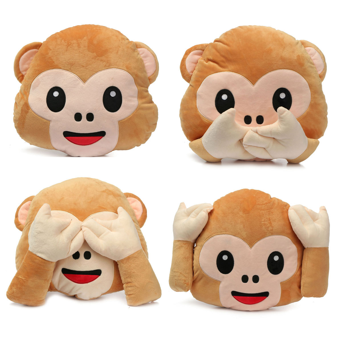 LM Lovely Plush Toys Monkey Pillow Stuffed Toy Office Home Sofa Decoration Gift