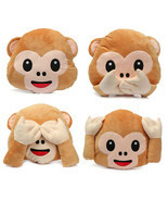 LM Lovely Plush Toys Monkey Pillow Stuffed Toy Office Home Sofa Decorati... - $12.34+