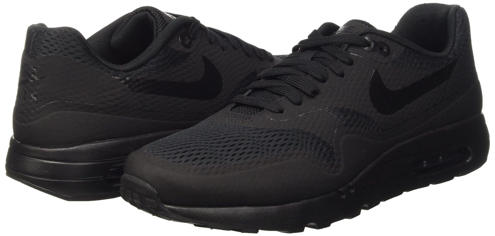best website 29d24 c3d88 ... Nike Men s Air Max 1 Ultra Essential Black Black Black Running Shoe  10.5 Men ...