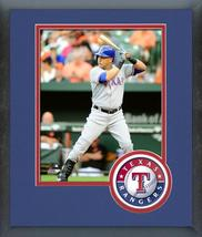 Carlos Beltran 2016 Texas Rangers - 11x14 Team Logo Matted/Framed Photo - $42.95