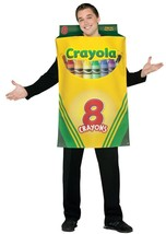 Crayola Crayons Box 8 Costume Adult Men Women Halloween Party Unique GC4520 - £41.08 GBP