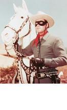 Lone Ranger LRS Clayton Moore Vintage 16X20 Color TV Western Memorabilia... - $29.95