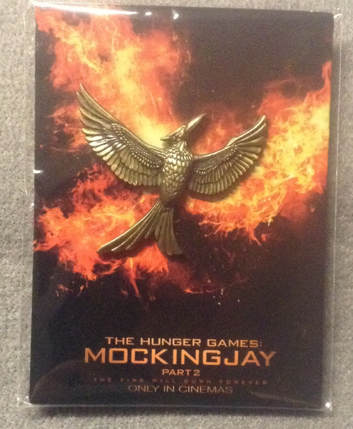 The Hunger Games Mockingjay Part 2 Pin Prop Replica Tribute Token LOOTCRATE