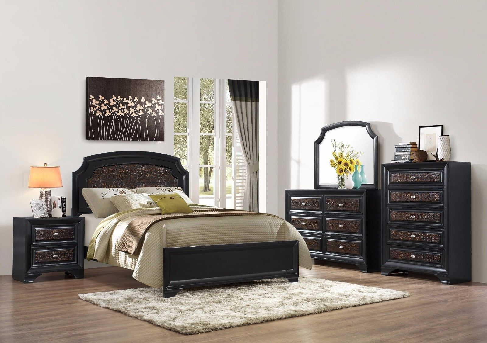 Crown Mark RB4300 Andros Queen Size Bedroom Set 5pc. Traditional style