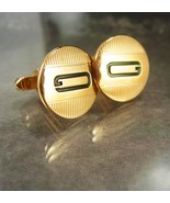 Vintage Swank monogram Cufflinks letter G Gold wedding gift personalized... - $75.00