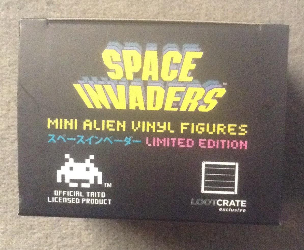 Space Invaders Mini Alien Vinyl Figures Orange LootCrate Exclusive Invasion 2016