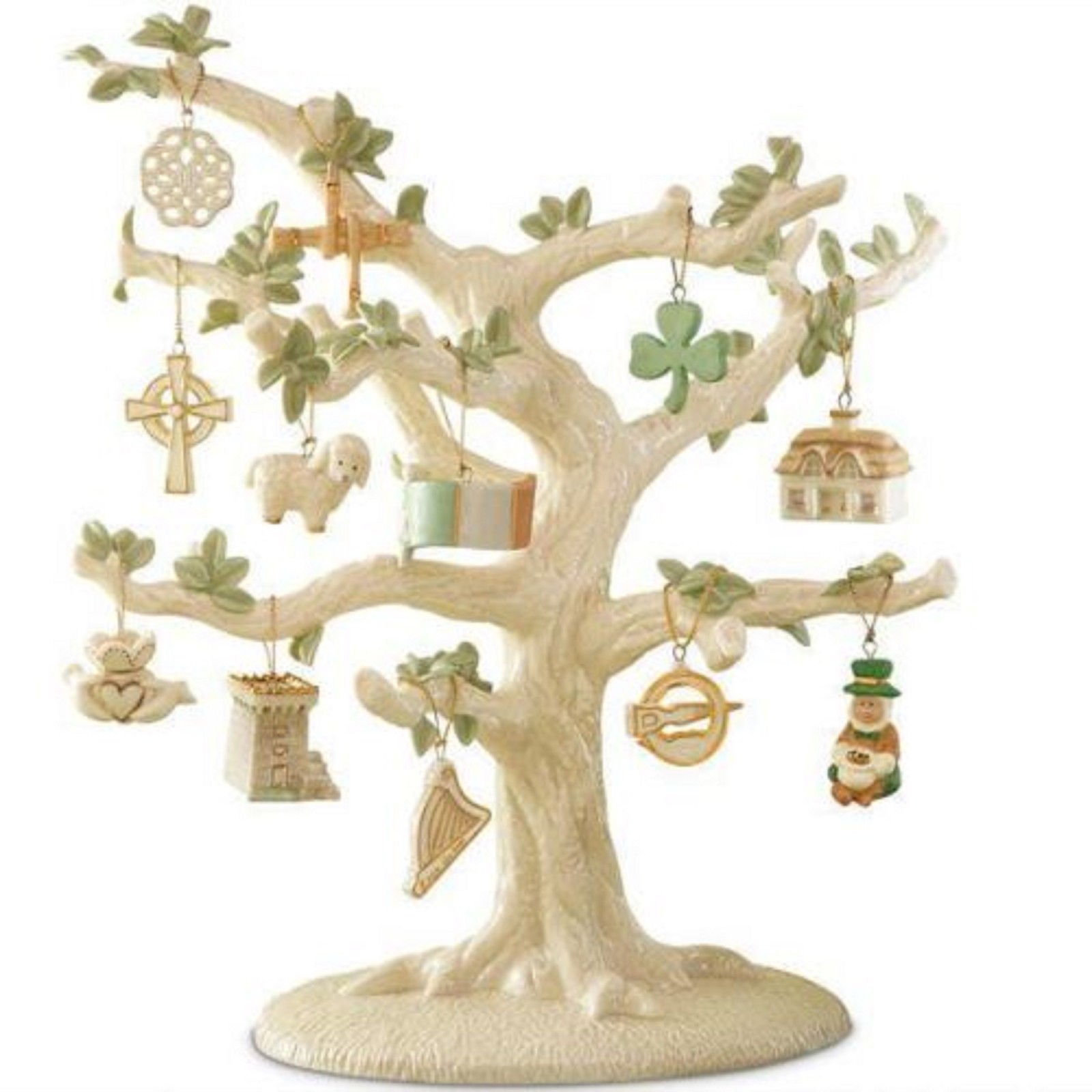 Lenox Luck Of The Irish Miniature Tree Ornaments Set of 12 St Patrick's Day NEW