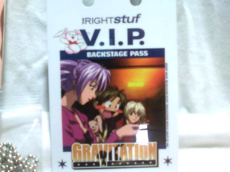Gravitation Promo V.I.P. Backstage Pass / Badge * Anime