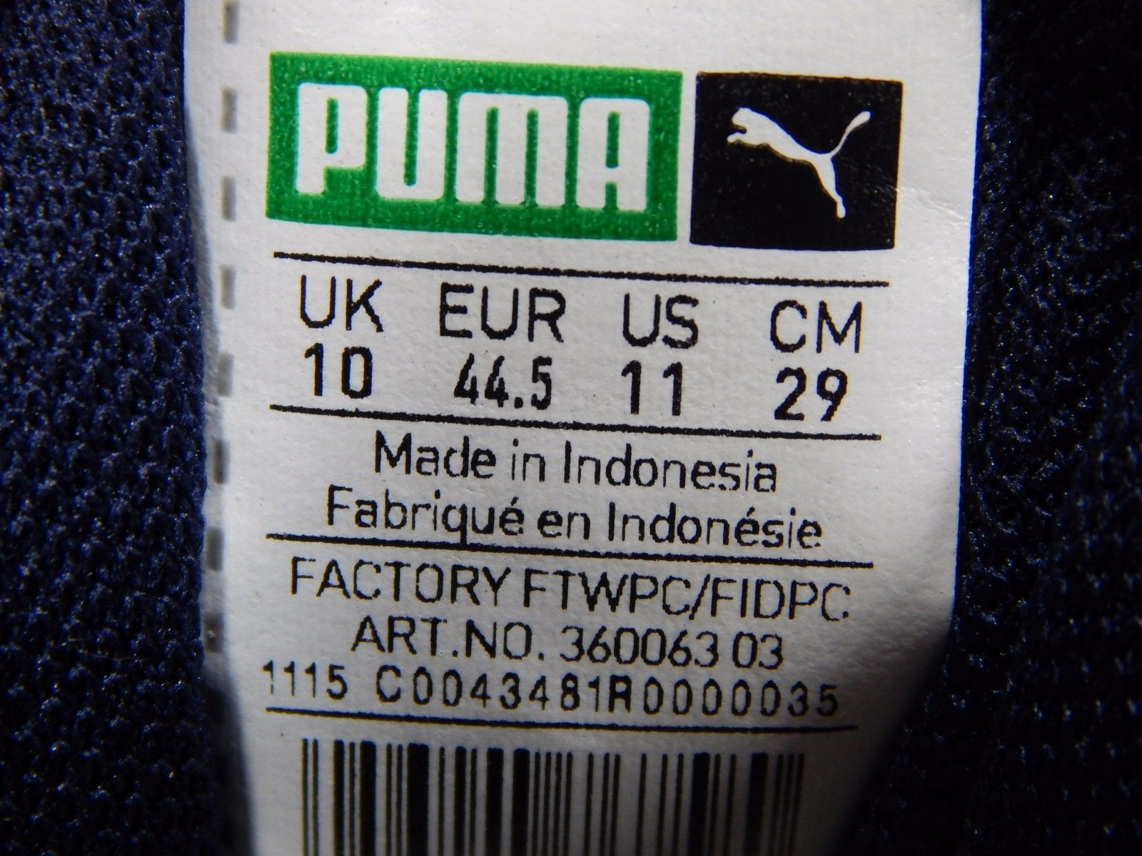 Puma 698 Ignite Men's Athletic Running Shoes Size US 11 M (D) EU 44.5 White Blue