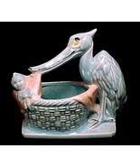 Vintage 1956 McCoy Pottery Stork Planter Baby N... - $34.95
