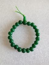 GREEN COLORED ELASTIC GLASS  BEAD BRACELET  - $6.50