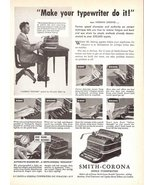 1947 Smith-Corona Office Typewriters Norman Saksvig print ad - $10.00