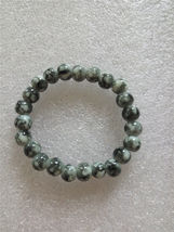 Grey And White Colored Elastic Glass Bead Bracelet  - $6.50