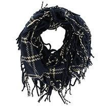 Women's Fashion Plaids Stylish Knit Warm Infinity Fringe Tassel Scarf (N... - £7.03 GBP