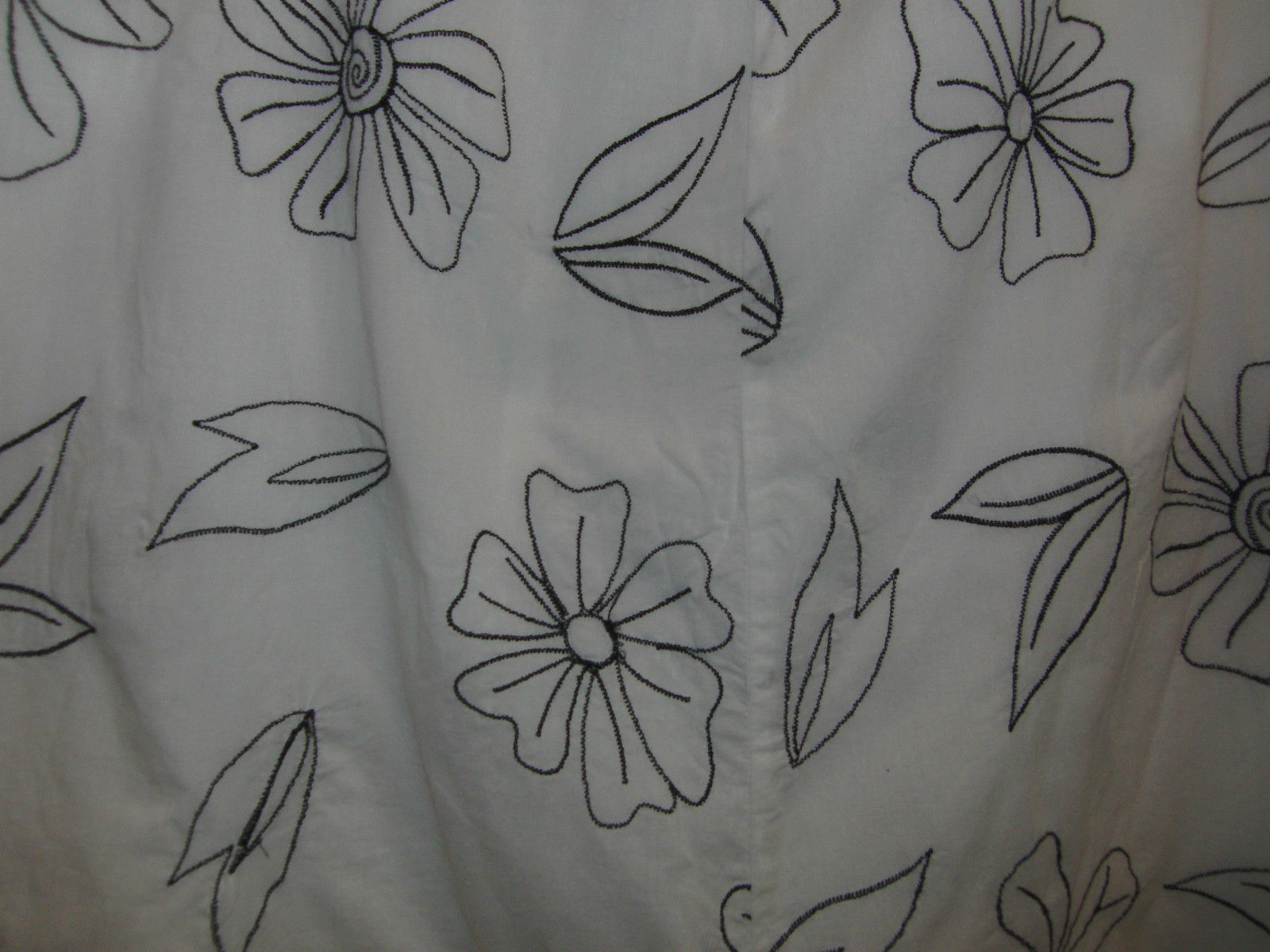 JM Collection White & Black Floral Cotton Skirt Size 10 *EUC