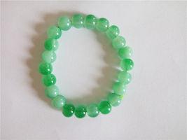 Lime Green  Elastic Glass Bead Bracelet  - $6.50