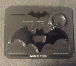 Batman Keychain Multi tool DC comics Black Screwdriver Bottle opener Off... - $7.99