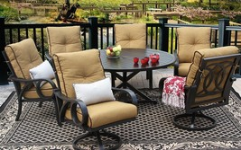 OUTDOOR PATIO 7PC DINING SET 60 Inch ROUND TABLE Series 4000  - $6,019.20