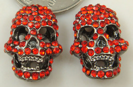 Hollow Red Rhinestone Skeleton Necklace Pendant ( One Only !!!! )  - $2.00