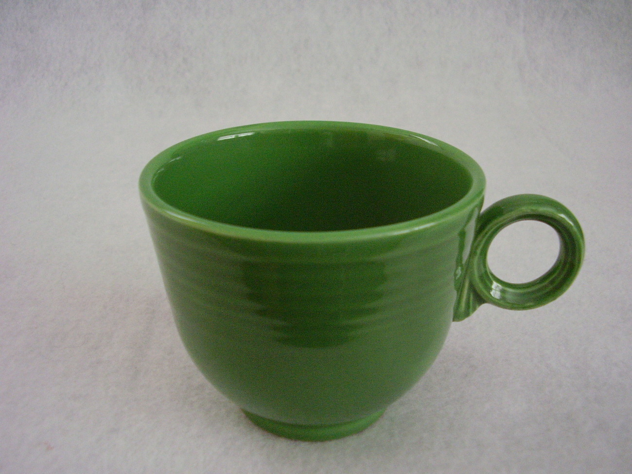 Vintage Fiestaware Medium Green Ring Handle Teacup Fiesta  D