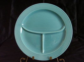 Vintage Fiestaware Turquoise Compartment Plate ... - $74.00
