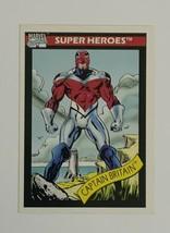 Marvel Universe 1990 Series 1 40 Captain Britain Trading Card Excalibur - $1.97