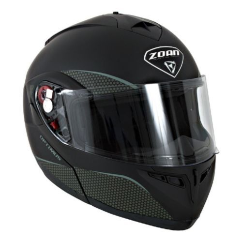 New 2XL Zoan Optimus Matte Black Modular Snowmobile Snow Helmet 038-038SN