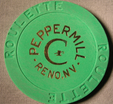 """Three Nice 1990's Roulette Chip's From """"The Peppermill Hotel & Casino""""(s... - $9.99"""
