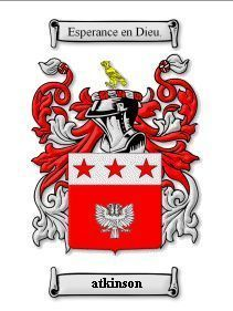 Atkinson Coat of Arms Atkinson Family Crest History Print  Bonanza