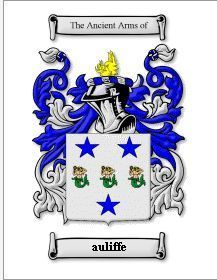 Auliffe Coat of Arms Auliffe Family Crest History Print  Bonanza