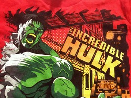 INCREDIBLE HULK KIDS TSHIRT XS 4 5 RED MARVEL 2... - £7.69 GBP