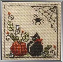 Itty Bitty Kitty Halloween Teenie Tweenie cross stitch chart Sweetheart ... - $9.00