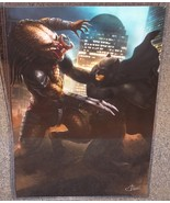 Batman vs The Predator Glossy Print 11 x 17 In Hard Plastic Sleeve - $24.99
