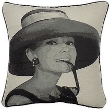 FILLED TAPESTRY COTTON VELVET MOVIE HOLLYWOOD LEGEND AUDREY HEPBURN CUSH... - $12.19