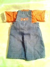 Vintage 1977 overall set doll clothes For Happy & Joy by Knickerboker - $5.32