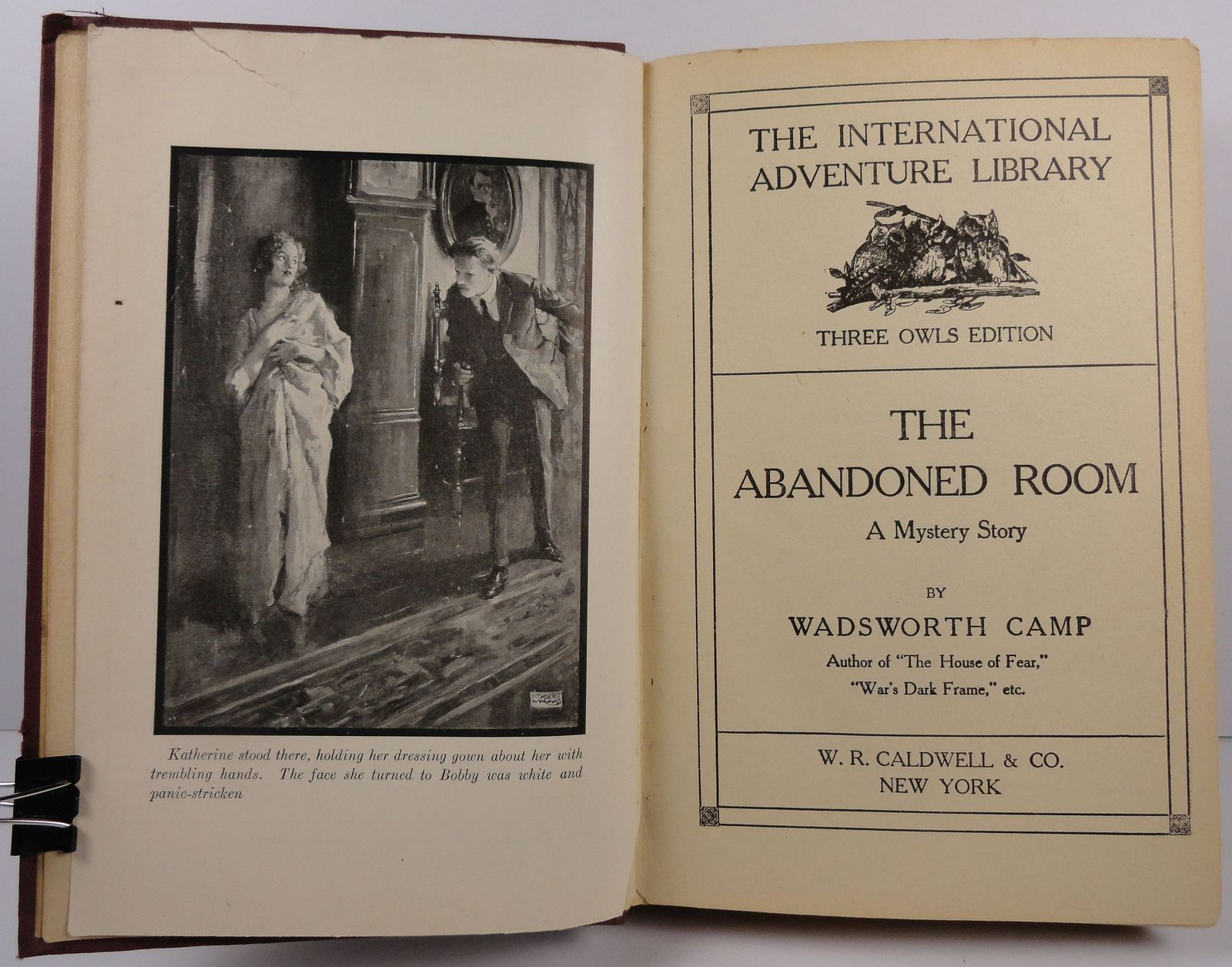 The Abandoned Room Wadsworth Camp Three Owls Edition 1917