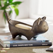 Cute Aluminum Cat Soap Dish-Jewelry-Candy,9'' x 4.5''H. - $67.32