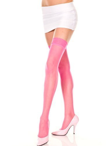 8f3cfbdf9f3 Music Legs Sheer Thigh High with Lace Trim and 50 similar items. 31nv  2bh8hkdl