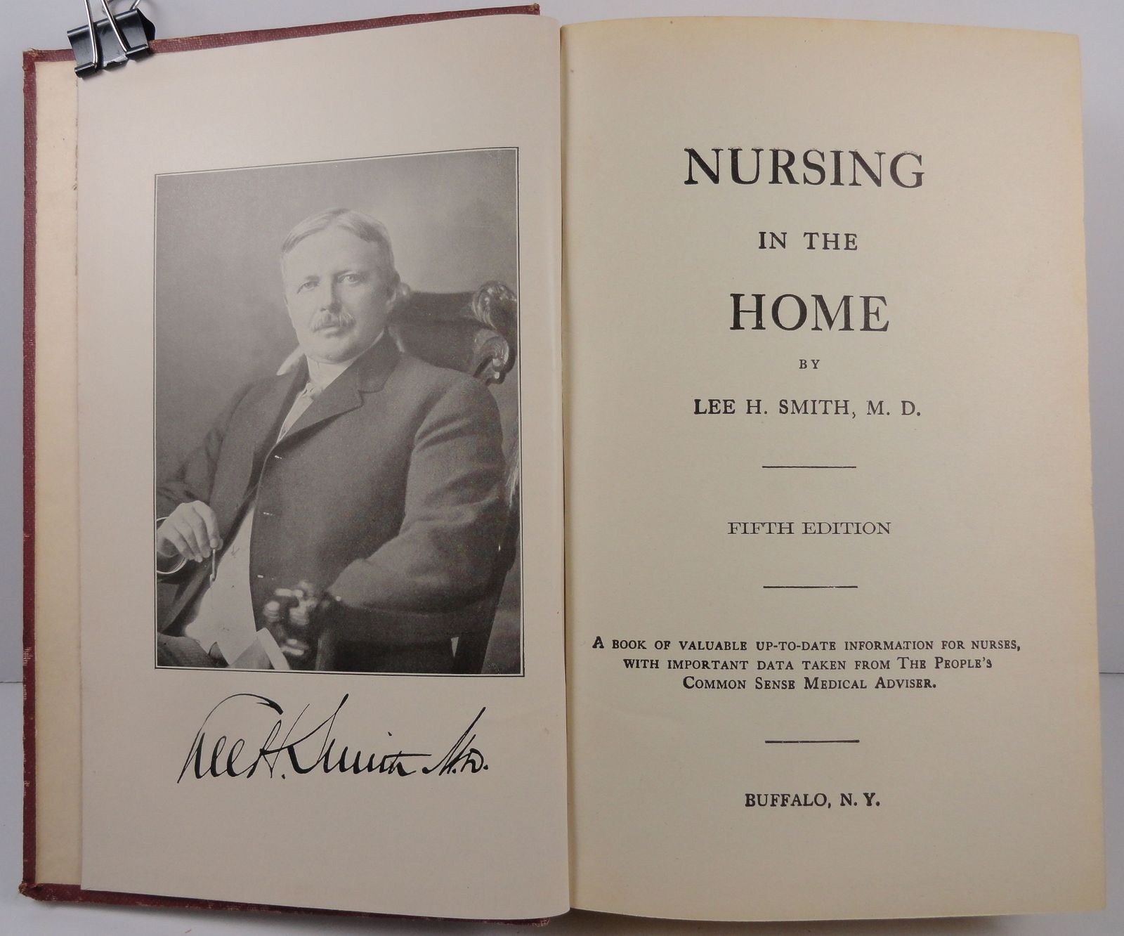 Nursing in the Home by Lee H. Smith 1922 Fifth Edition