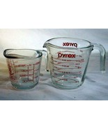 Anchor Hocking Fire King Set Of 2 Glass Measuring Cups 1 Cup #3 2 Cup #30 - $8.81
