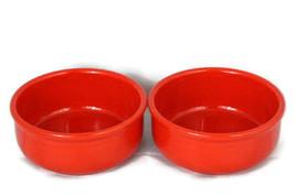 Waechtersbach West Germany Red White Dots Cups Creamer Bowls 6 Piece Inc... - $35.63