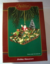 "CARLTON CARDS Heirloom Collection ""HOLIDAY MANEUVERS"" Military Xmas Orna... - $49.44"