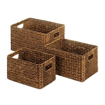 Straw Nesting Baskets Trio Available in 2 Colors - $39.95+