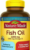 Nature Made Fish Oil 1200 mg 360 mg omega-3 Liquid Softgels,Heart Health... - $13.63