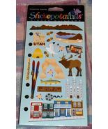 Stickopotamus Binder Stickers Utah Scrapbook Photo Safe Stickers  New in... - $2.45