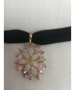 Vintage Opal Choker Deco Pink Ice 925 Sterling Silver Necklace - $153.45