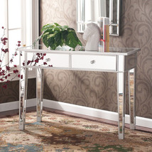 Hollywood Vanity Mirror Console Table Desk Cabinet Regency Accent Furnit... - €338,38 EUR