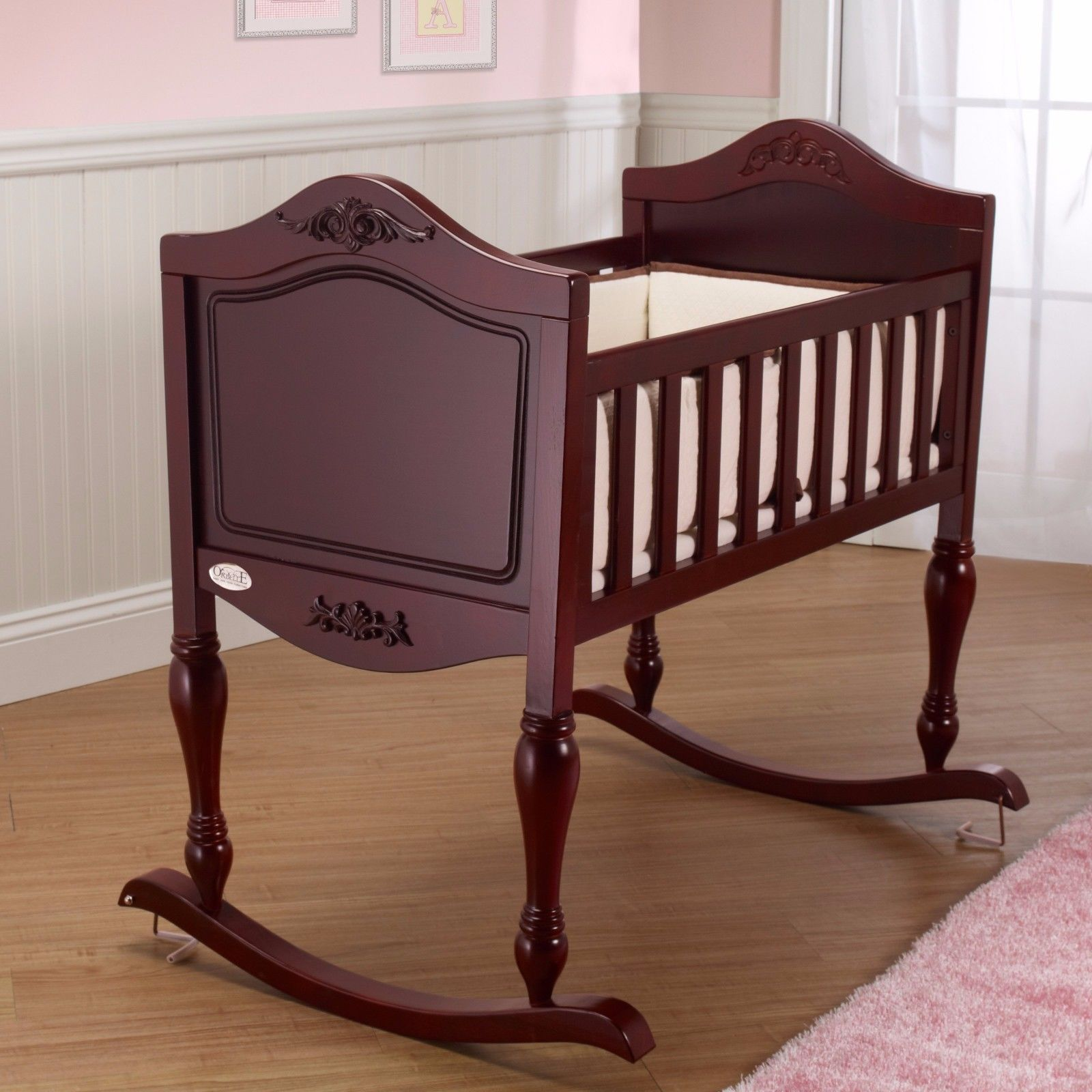 Handmade Rocking Chair additionally Rustic Baby Shower moreover Antique Baby Crib also 380037537 as well Pack And Play Changing Table. on antique wooden bassinet