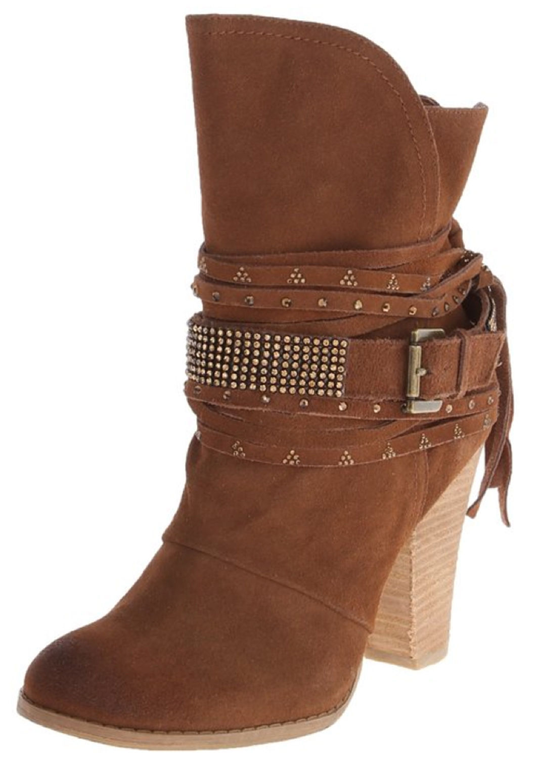 monkey boots suede leather jeweled studded ankle
